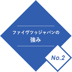 ファイヴツゥジャパンの強みNo.2